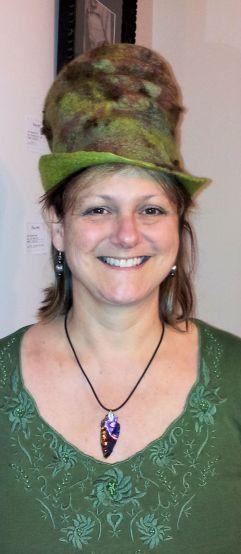 Green Felt hat
