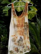 Eco-dyed sleeveless, long tee