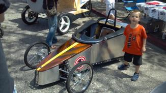Telestreams-Streamliner-promoting-the-2012-Nevada-City-Adult-Soapbox-Derby-at-the-GV-Downtown-Car-Show