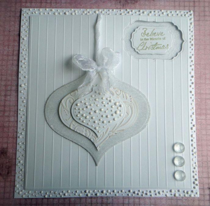 Spellbinder Triple White Bauble Card