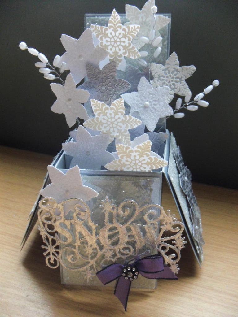 Sue Wilson Let It Snow Box Card Part 1
