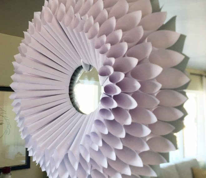 DIY Huge Paper Wreath