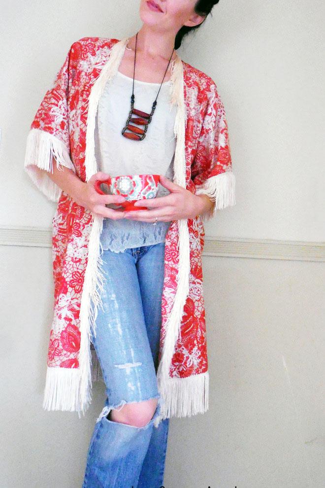 Make This DIY Kimono w/ Fringe