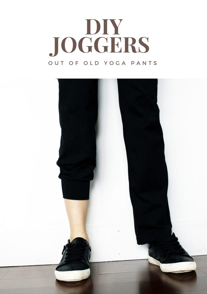 Make DIY Joggers from old yoga pants with this quick and easy DIY tutorial