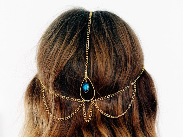 DIY Hair Accessories. Boho chain hair jewelry you can make yourself