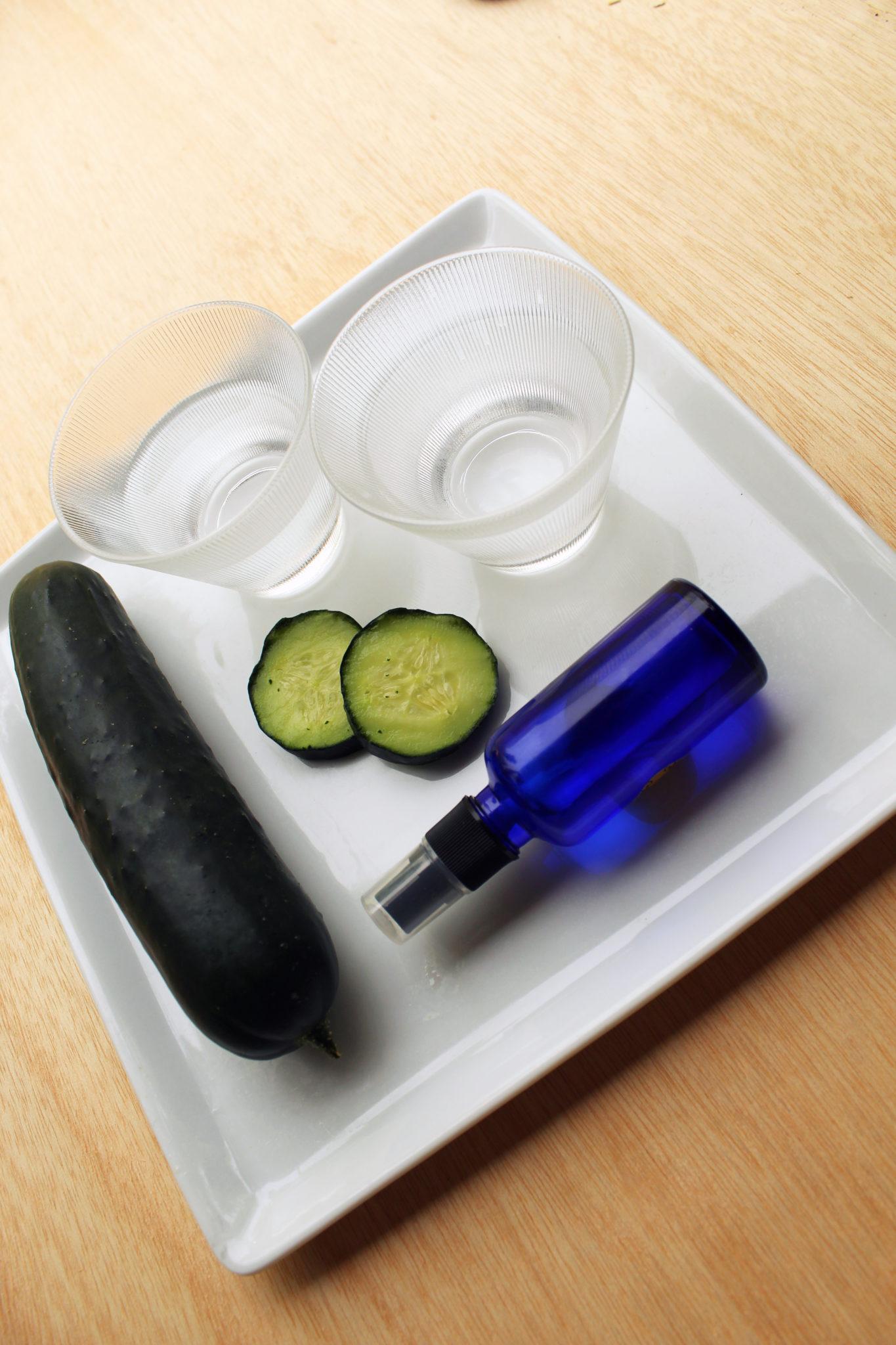 Make This Organic All Natural Cooling Cucumber Facial Toner with this All Natural DIY Recipe