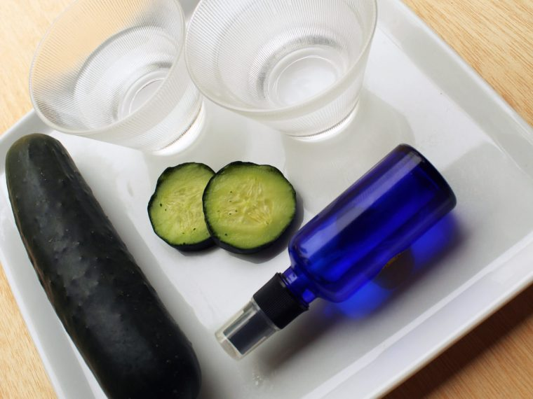 Make This Organic All Natural Cooling Cucumber Facial Toner with this All Natural DIY Recipe