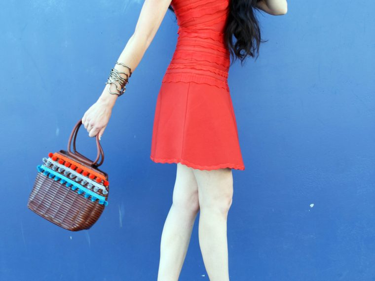 The ultimate little red bandage dress