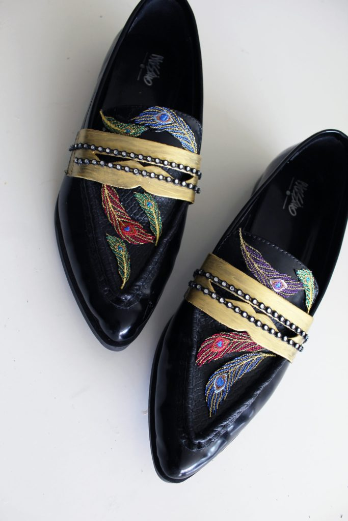 Refashion your loafers to make these glam Gucci Inspired shoes with this simple tutorial