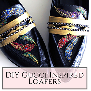 DIY Gucci Inspired Loafers