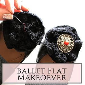 DIY ballet flat makeover