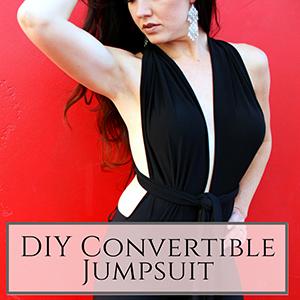 DIY convertible jumpsuit
