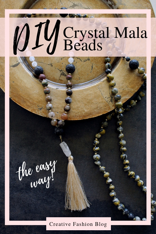 Make Your Own DIY Crystal Mala Beads necklace for Meditation and Goal Setting
