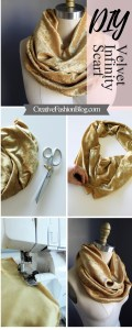 DIY this beginner sewing tutorial Velvet Infinity Scarf handmade christmas gift