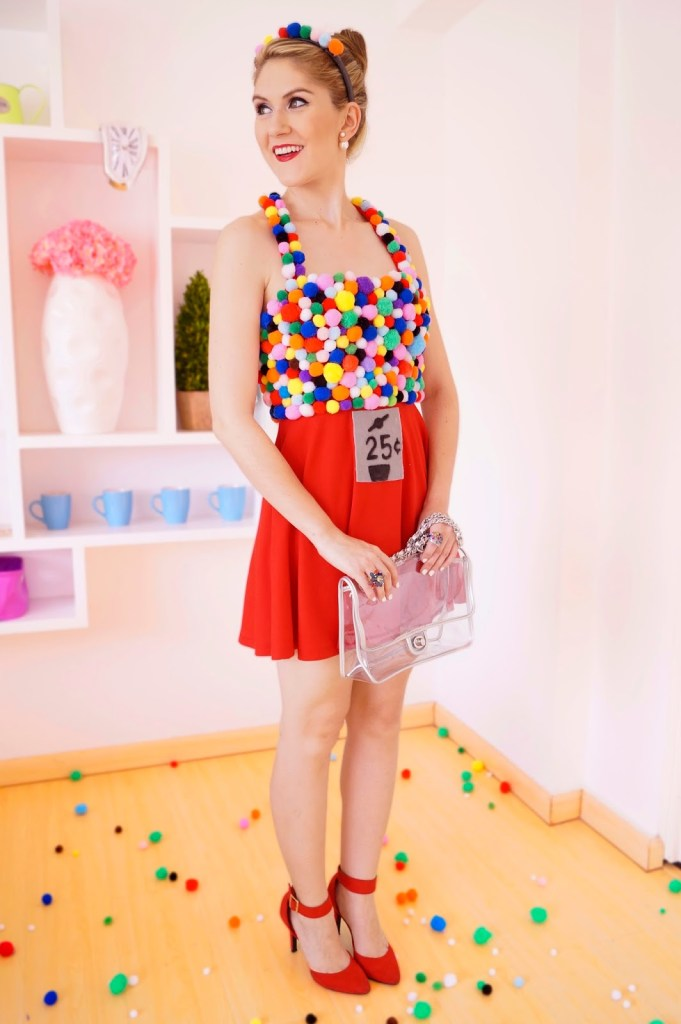 DIY Halloween costumes gumball machine