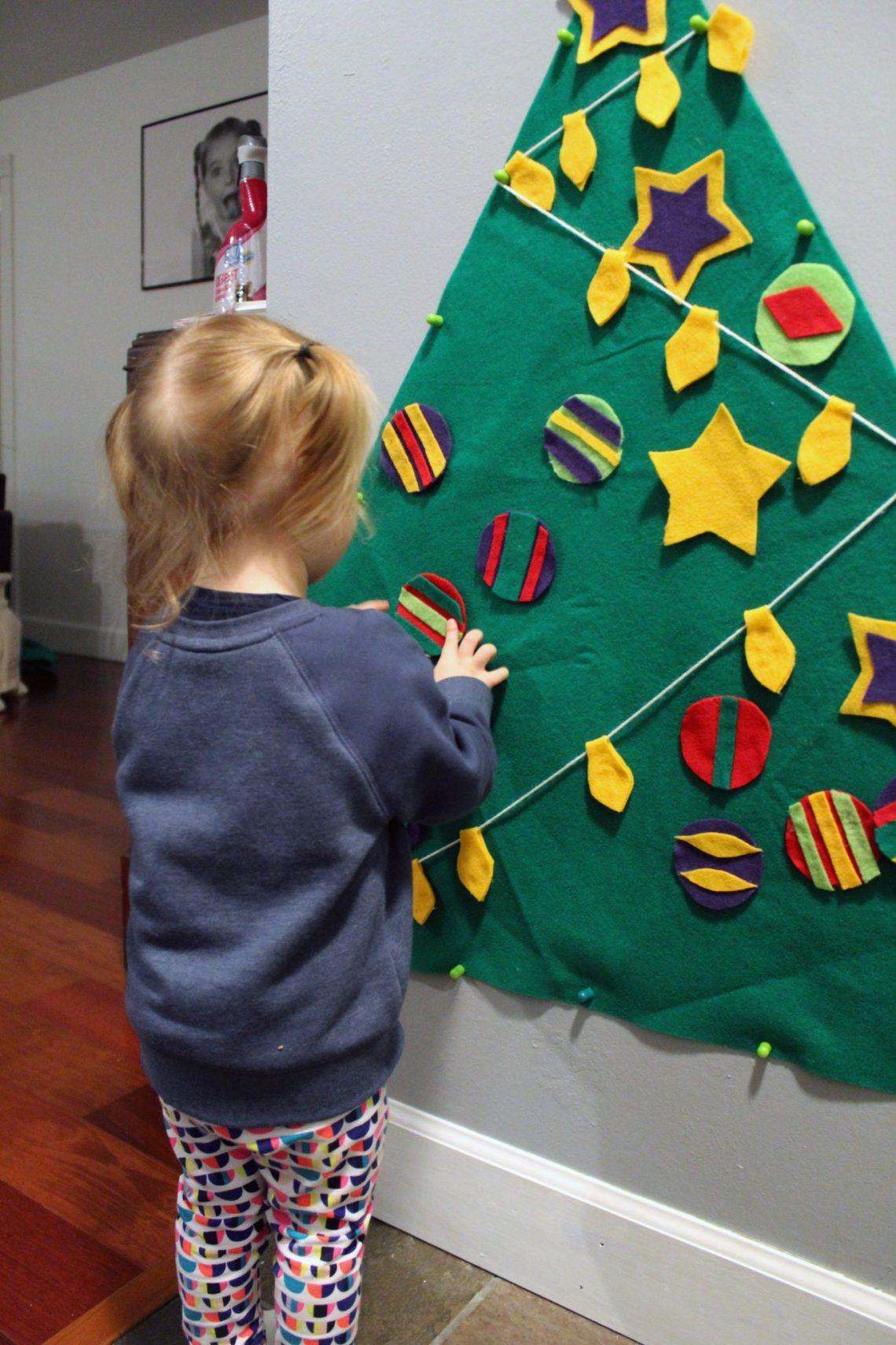 Make This Toddler Felt Christmas Tree FULL TUTORIAL