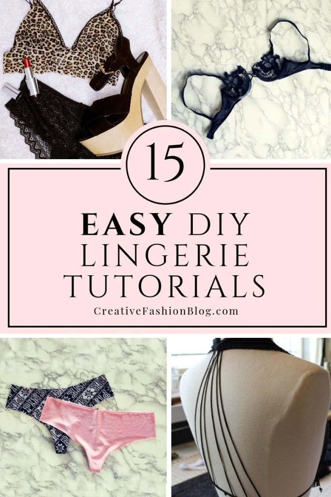 15 easy diy lingerie tutorials