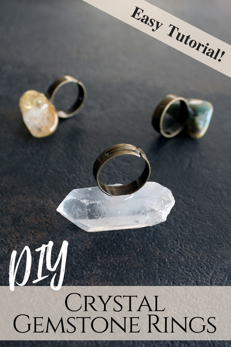 DIY CRystal statement ring
