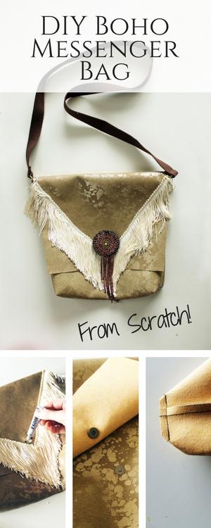 DIY Messenger Bag from scratch tutorial