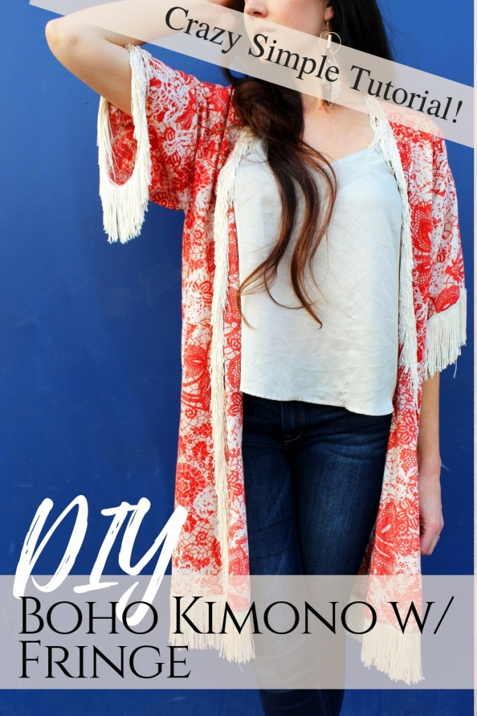 How to make a Boho style DIY kimono with fringe from scratch