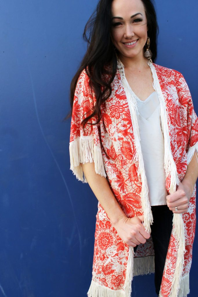 How to make a free people inspired DIY boho kimono with sleeves from scratch!