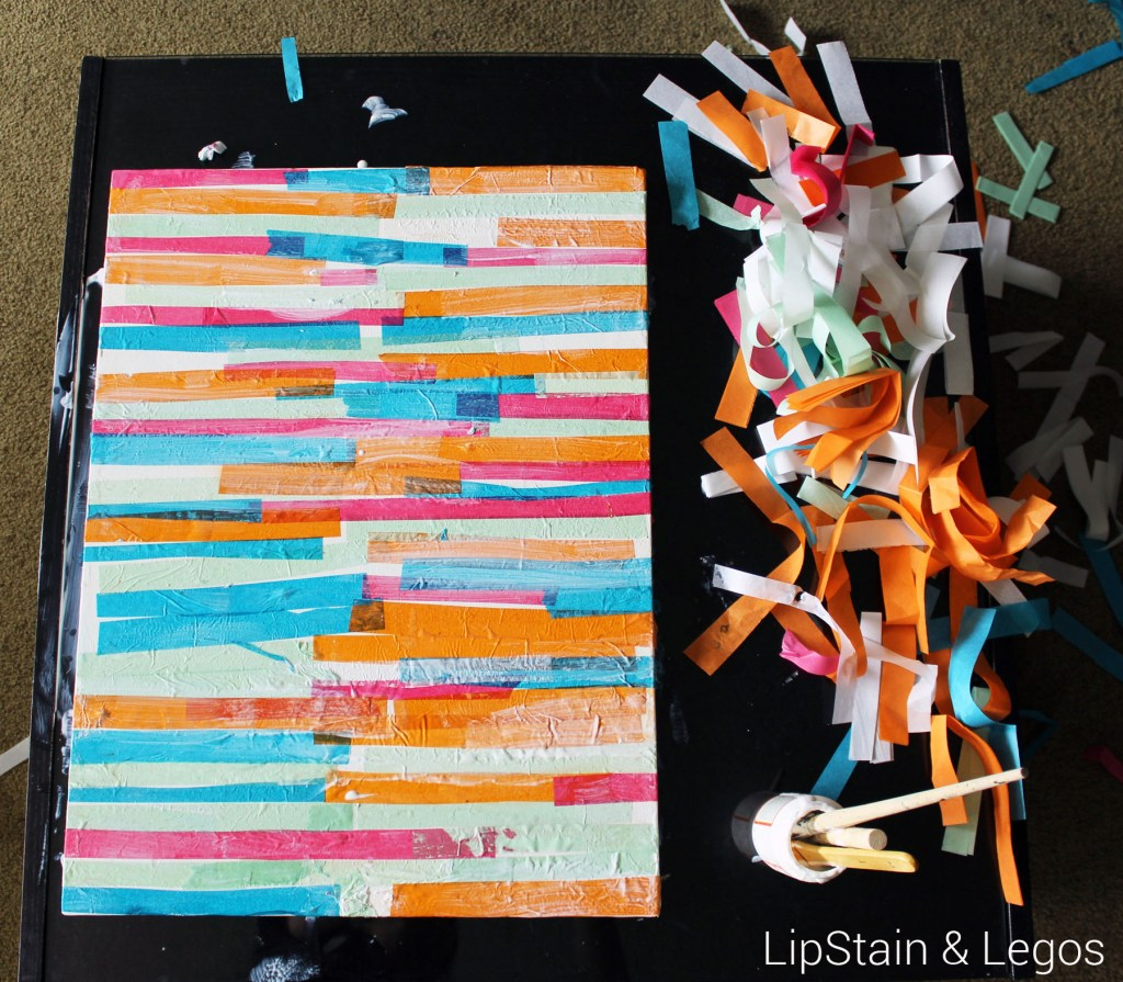 DIY Tissue Paper Art Project