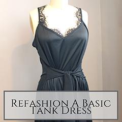 Refashion a basic tank dress small