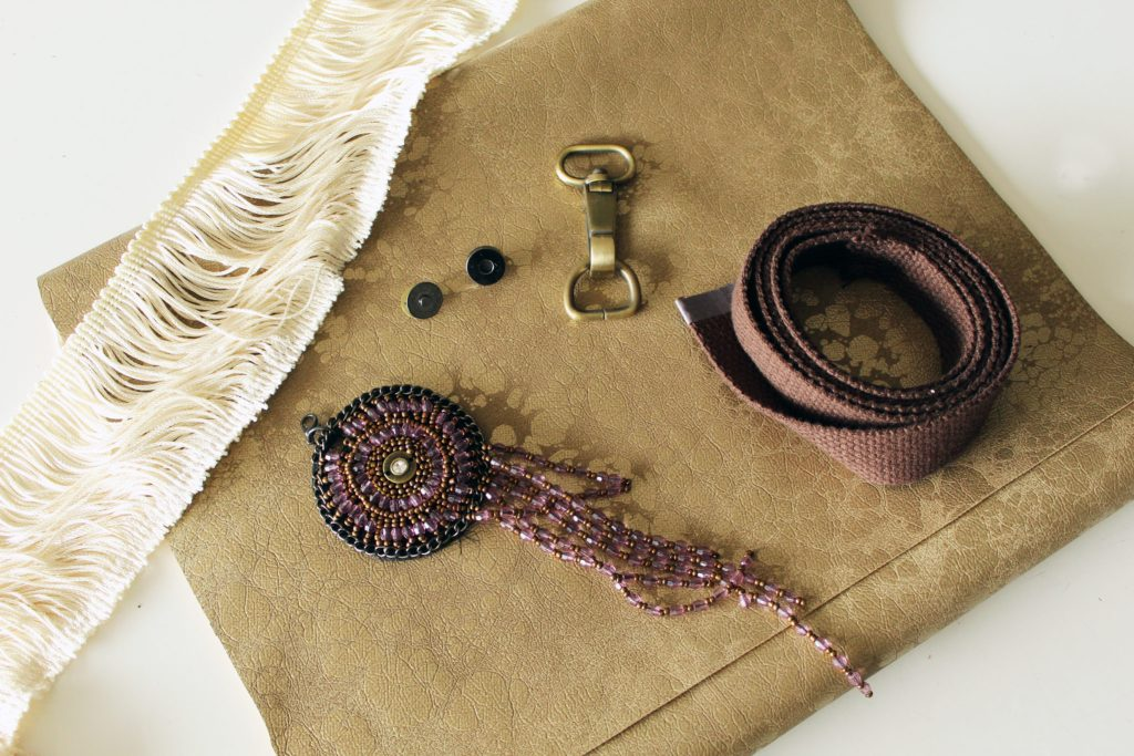 Supplies to make a DIY Messenger Bag from scratch!