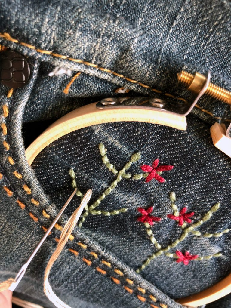 3 Simple Ways to Embroider Jeans For An Absolute Beginner .