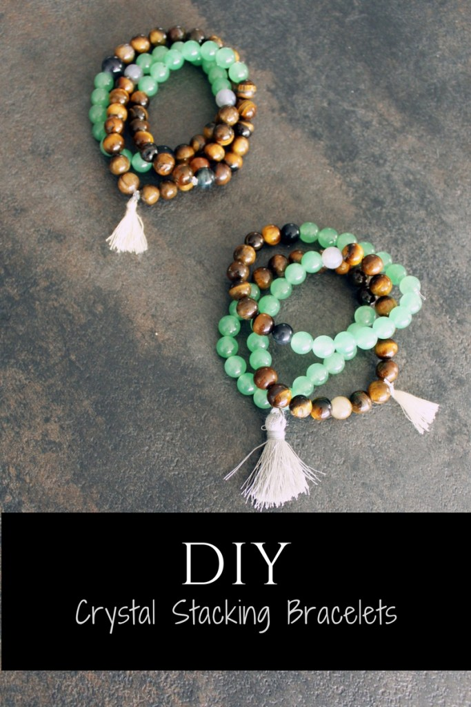 DIY Stone Bracelets . Healing Crystals jewelry making