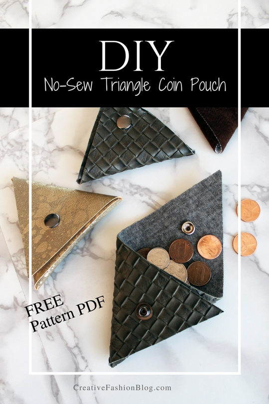 How To Make A Small Triangle Coin Pouch FREE Printable pdf Pattern Download Included