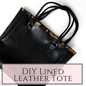 Leather lined tote