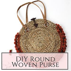 round woven purse