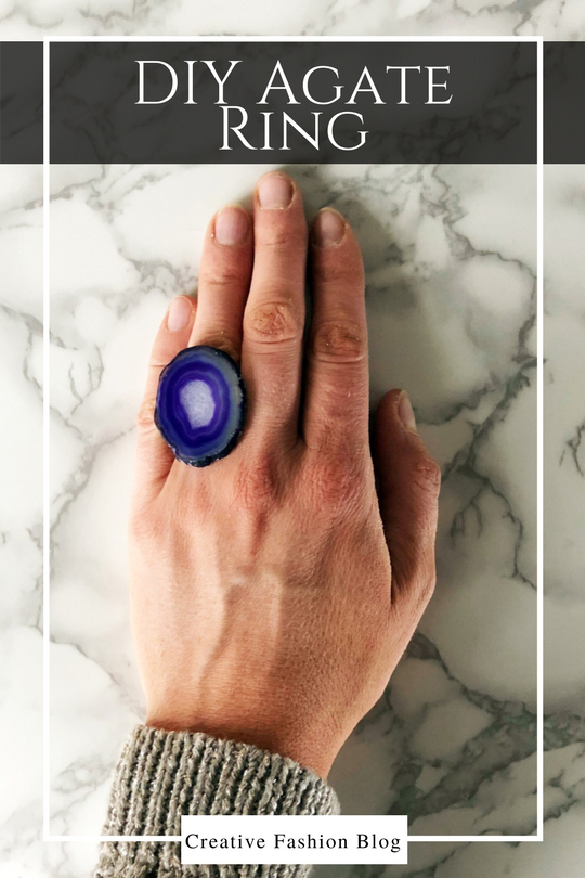 DIY Agate Statement Ring with this 5 minute tutorial