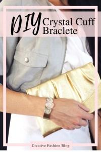 Make This DIY Crystal Bangle Bracelet..