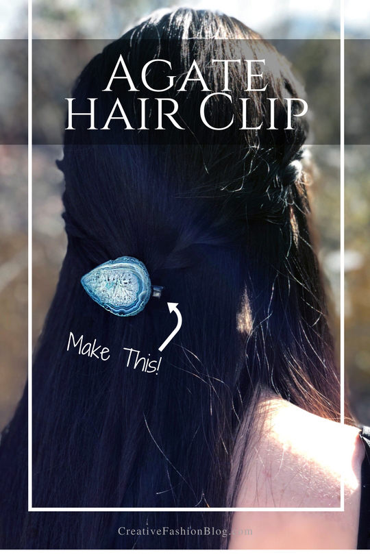 Make a DIY Agate Hair Clip
