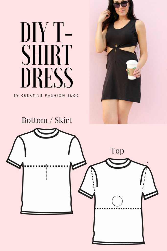 Refashion 2 T shirts into this sexy summer dress