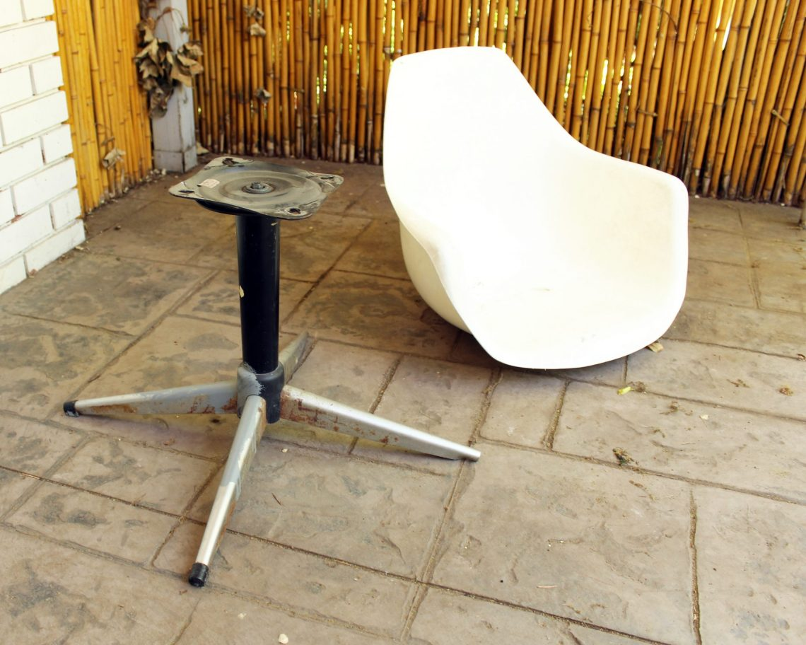Before DIY Midcentury Modern Chair Makeover Tutorial picture -