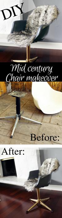 DIY Midcentury Modern Chair Makeover full Tutorial