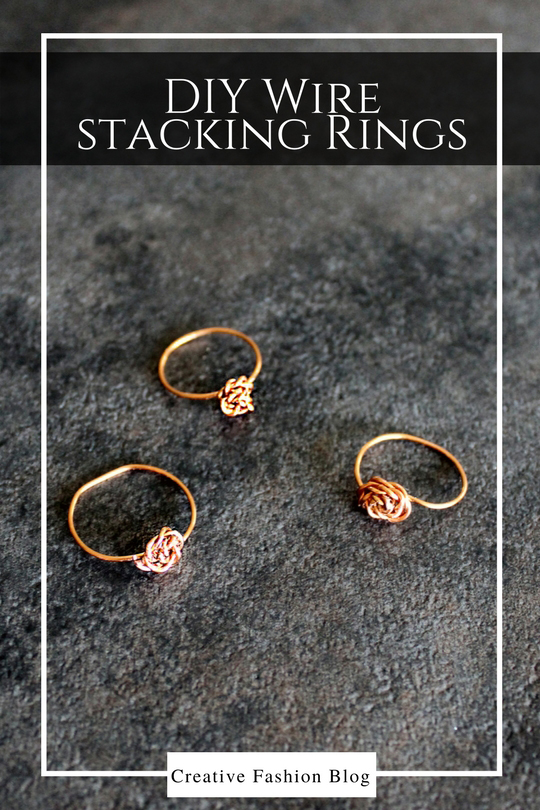 How To Make DIY Dainty Stacking Wire Rings