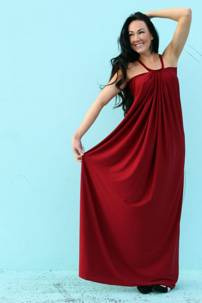 Sew a DIY Tent Dress Floor Length Maxi Dress