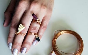 diy ring tutorial . easy wire jewelry with boho tassels .