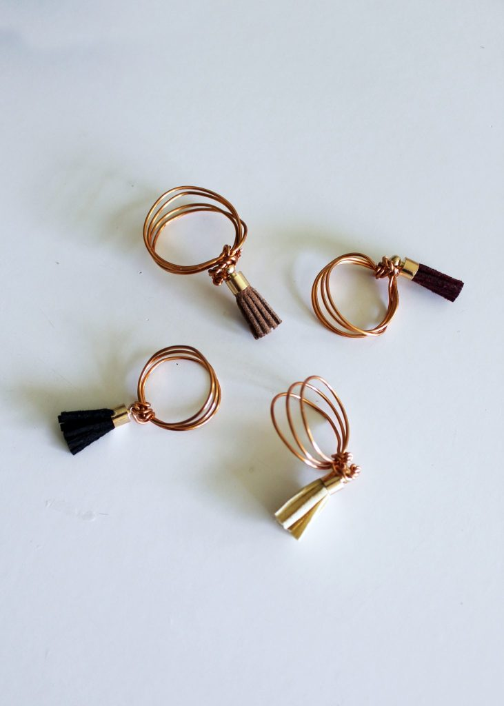 diy ring tutorial . easy wire jewelry with tassels