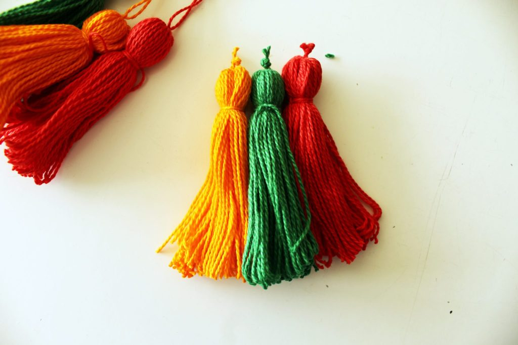Refashion Easy DIY Slippers Tutorial with embroidery floss Tassels. Basic embroidery tutorial.