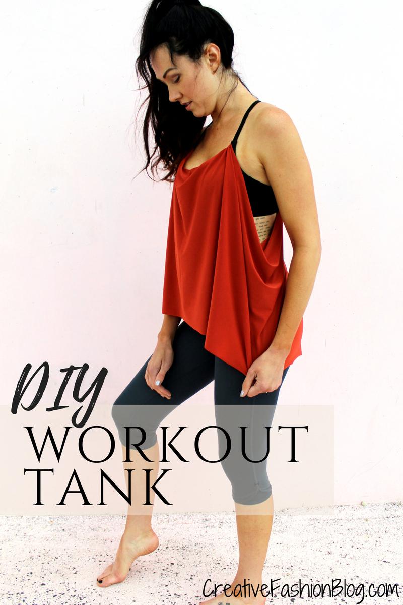 diy workout shirt tutorial . lulu lemon knockoff bra refashion sewing project