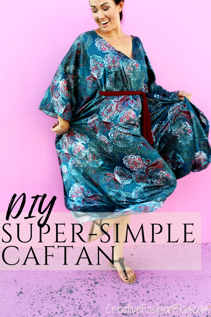 how to make a diy caftan a sewing tutorial easy way