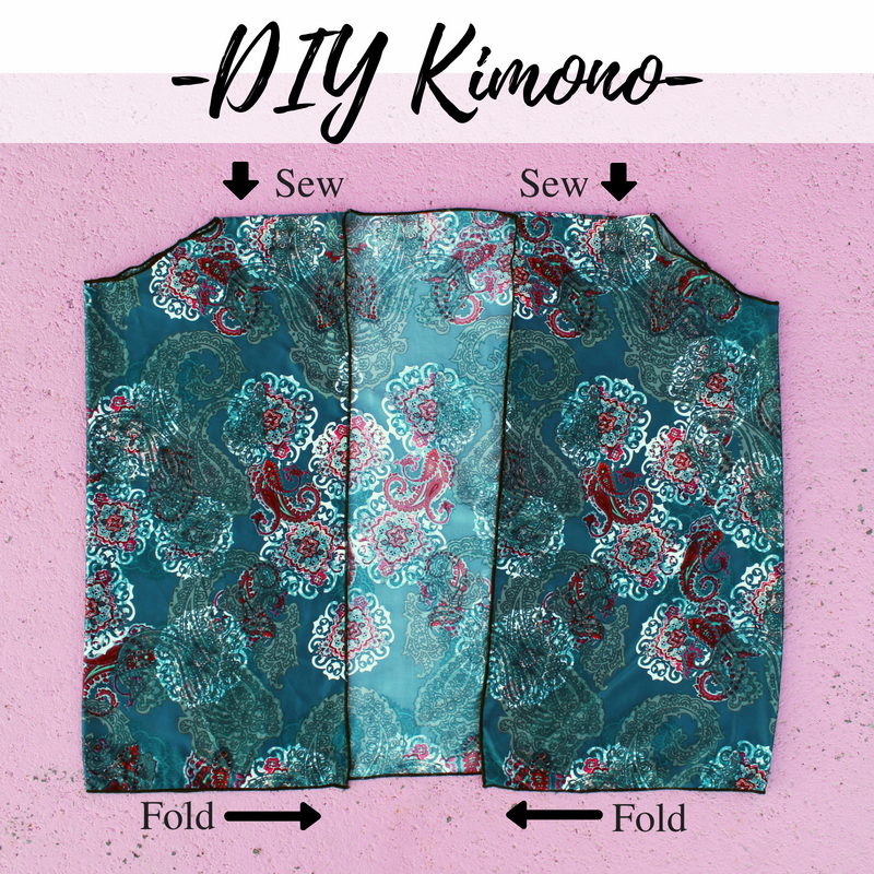 how to make an easy boho DIY kimono tutorial
