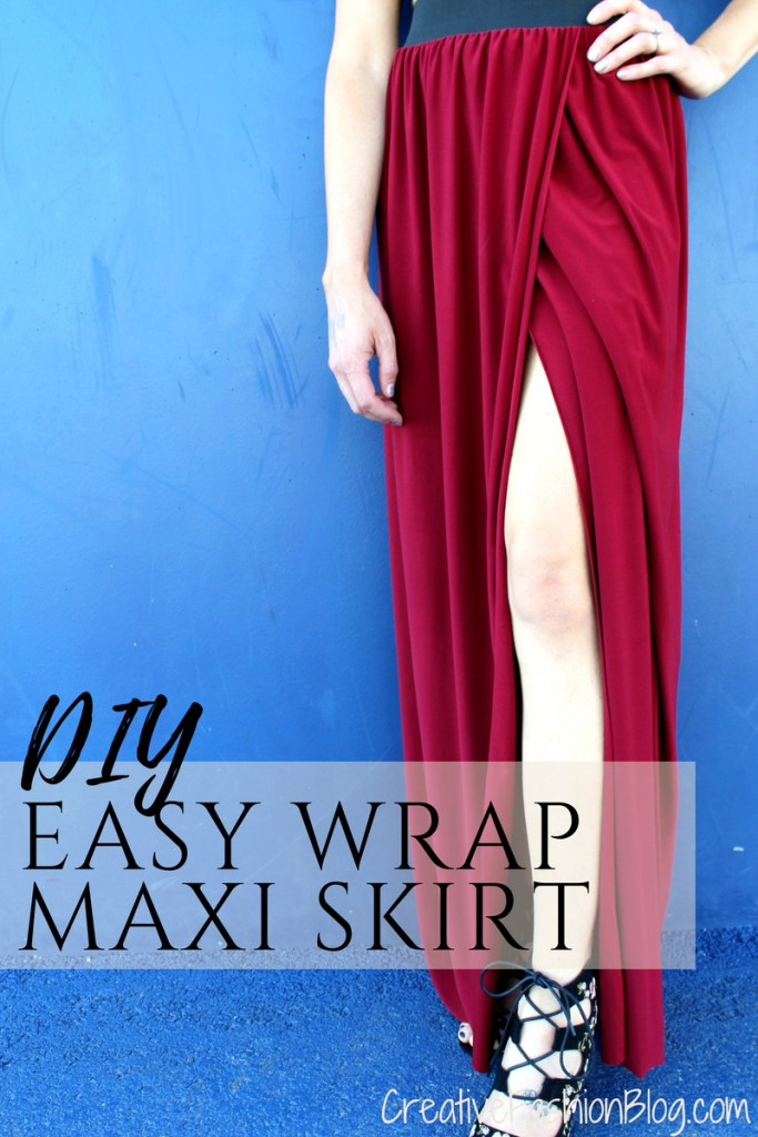how to sew a diy floor length maxi skirt with slit....