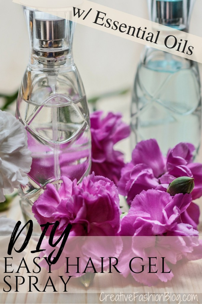 How to make DIY hair gel recipes with essential oils