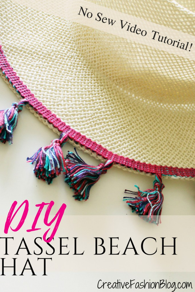 How to make a fun DIY summer hat for women . Easy no-sew project!!
